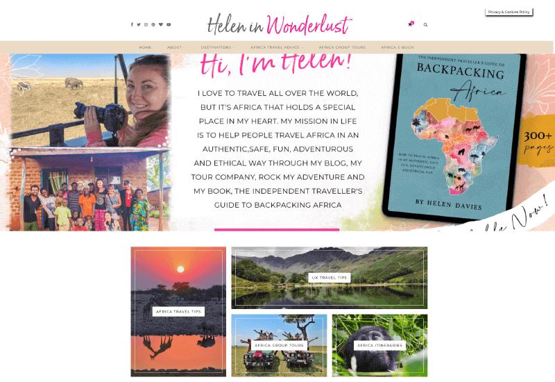Helen in Wonderlust Blog Women lifestyle and travel blog