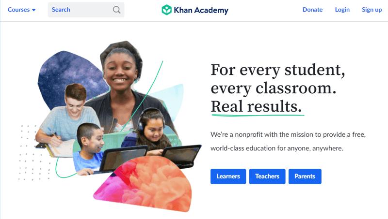 Khan Academy Most Popular Online Courses Websites
