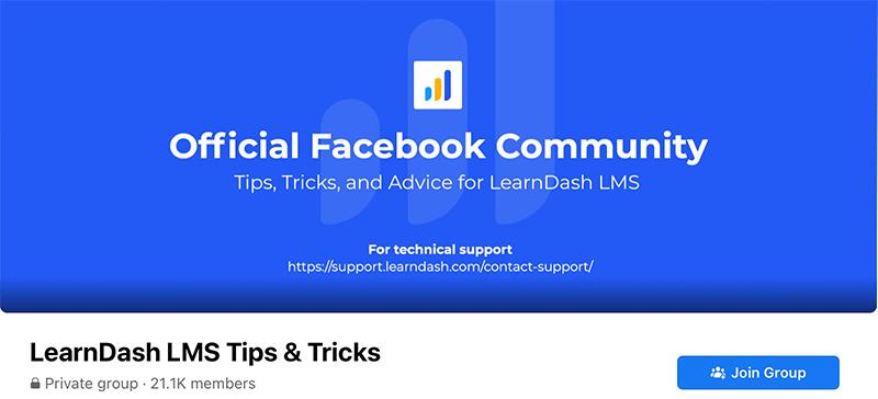 LearnDash Official Facebook Community