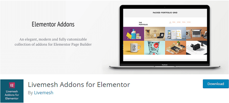 Livemesh free plugins for elementor