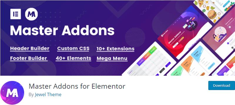 Master Addons-best free plugins for elementor