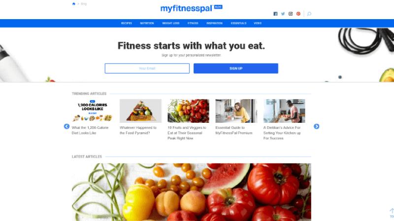 My Fitness Pal Blog best lifestyle blogs