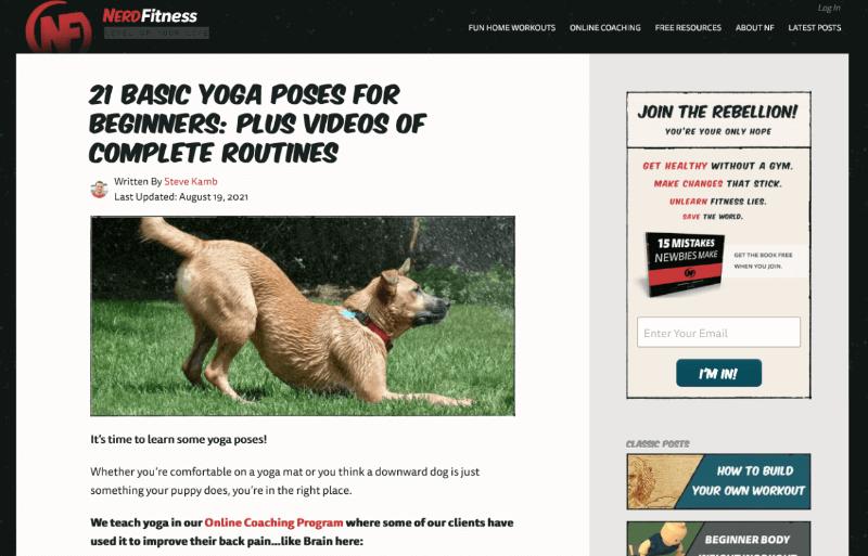 Nerdy Fitness Blog Fitness lifestyle blog