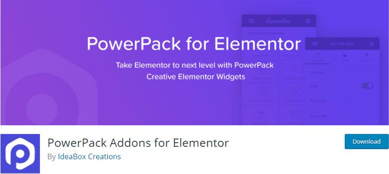 PowerPack - free elementor plugins