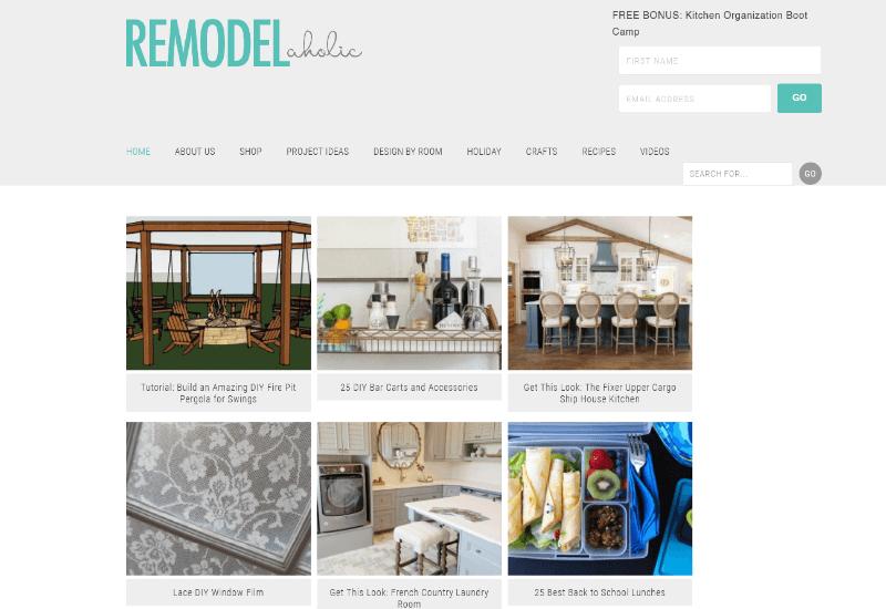 Remodelaholic Blog inspirational lifestyle blogs