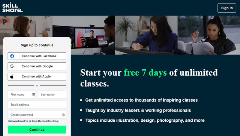 SkillShare Website