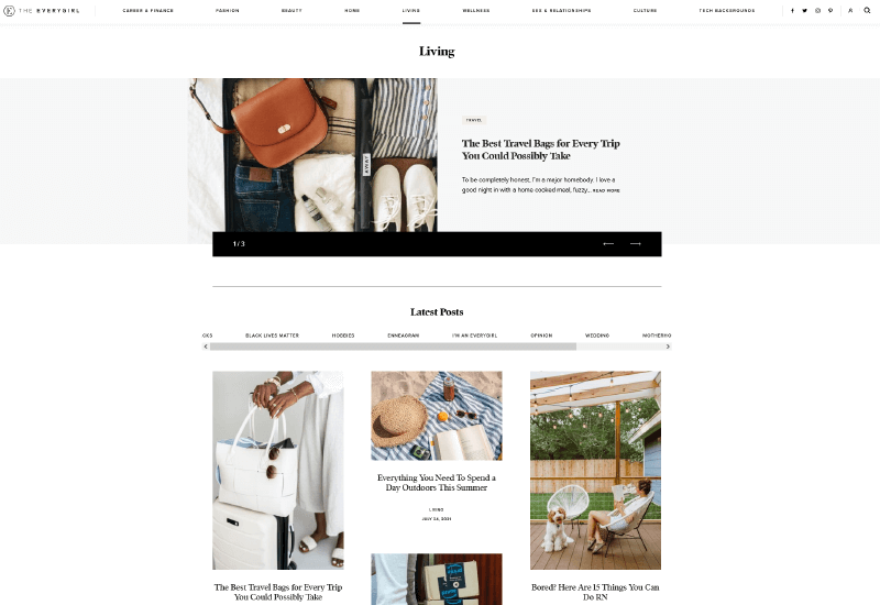 The Everygirl Blog how to start a lifestyle blog