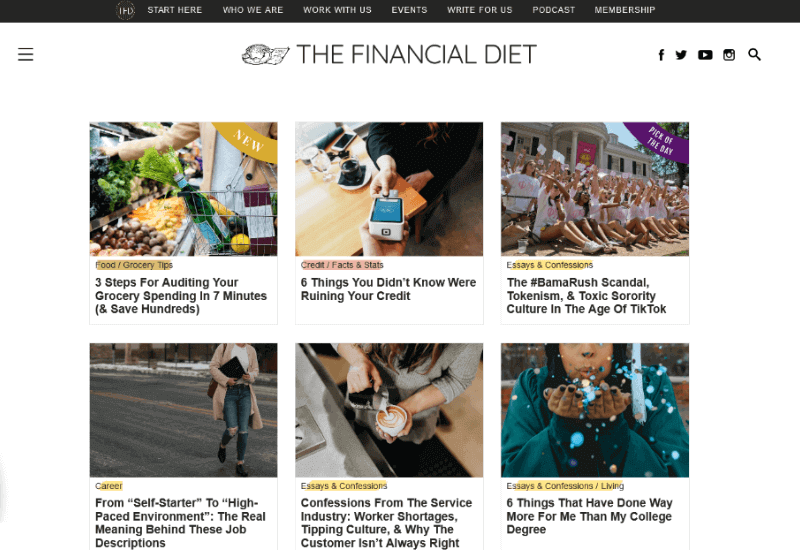 The Financial Diet Blog for lifestyle and finance
