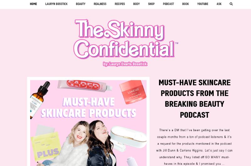 The Skinny Confedential Blog
