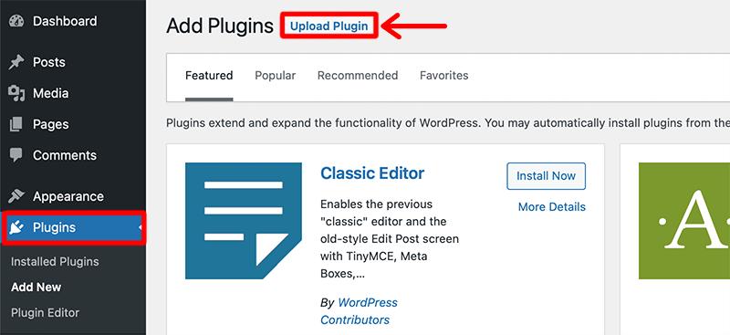 Upload LearnDash Plugin