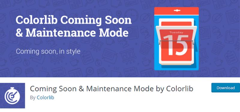 ComingSoon & Maintenance Mode by Colorrib Plugin