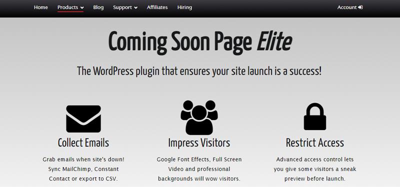 Coming Soon Page Elite WordPress Plugin