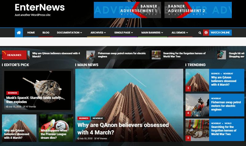 EnterNews WordPress Magazine Themes