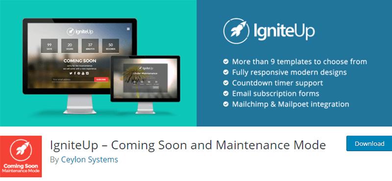 IgniteUp Coming Soon WordPress Plugin