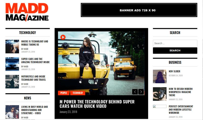 Madd Magazine Themes