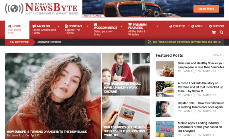 Magazine News Byte Themes