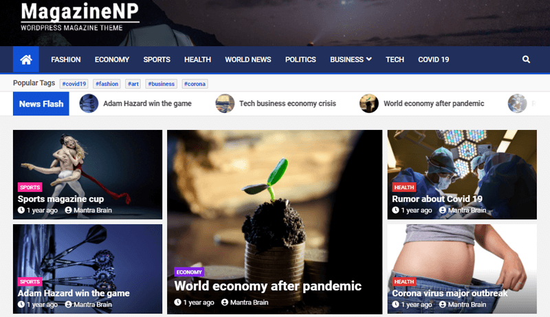 MagazineNP WordPresss Themes