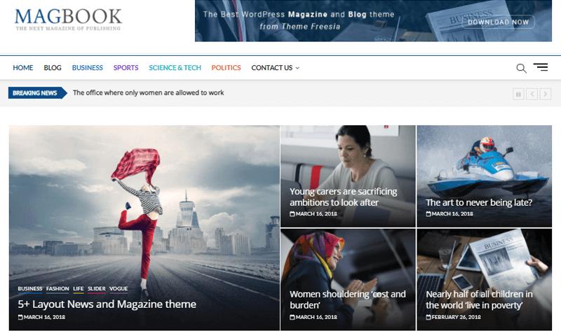 Magbook WordPress Magazine Themes