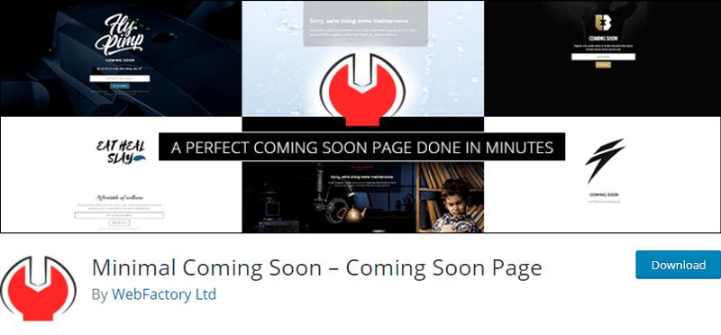 Minimal Coming Soon Page Plugin