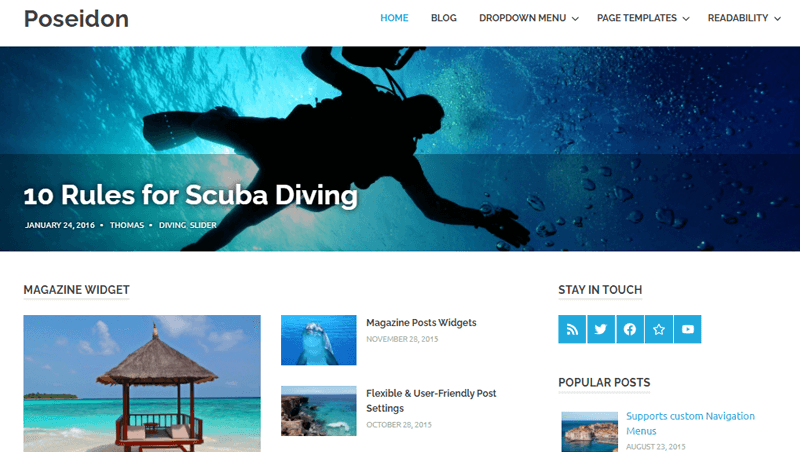 Poseidon WordPress Magazine Themes