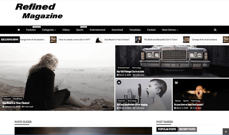 Refined Magazine WordPress Themes