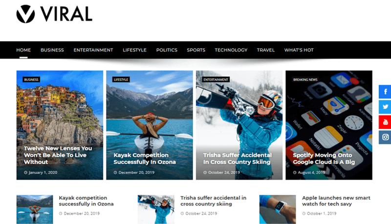Viral WordPress Magazine Themes