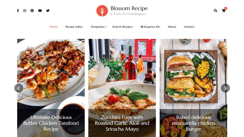Blossom Recipe Best Catering WordPress Theme