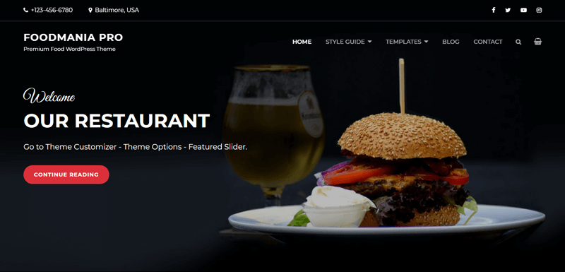 Catch Foodmania Best Catering WordPress Theme