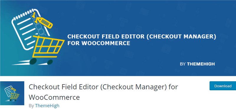 Checkout Field Editor for WooCommerce Plugin