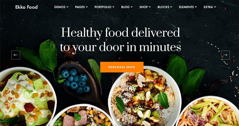 Ekko Best Catering WordPress Theme