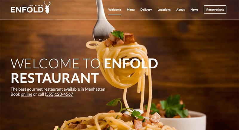 Enfold Best Catering WordPress Theme