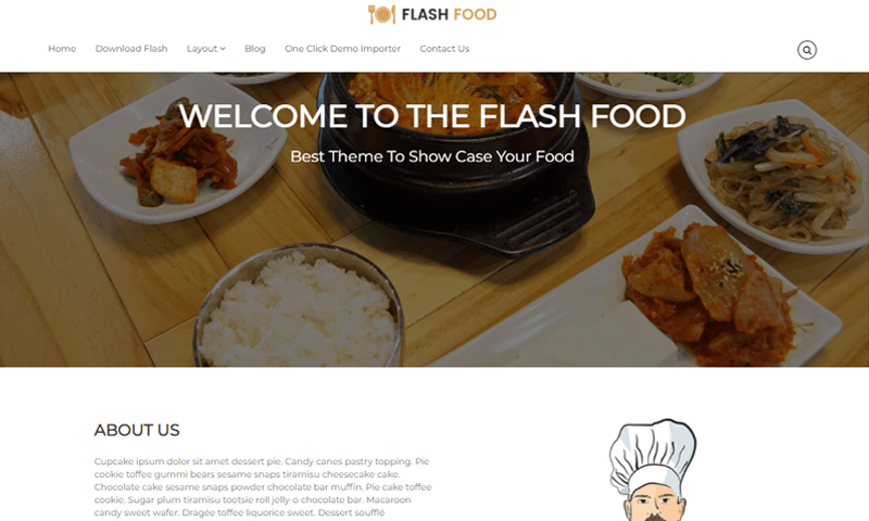 Flash Restaurant Theme