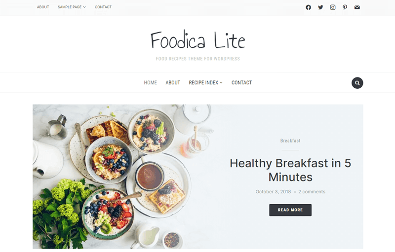 FoodicaLite Free WordPress Theme