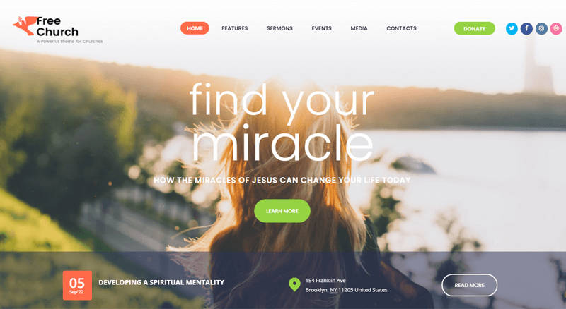 Free-Church-Theme WordPress