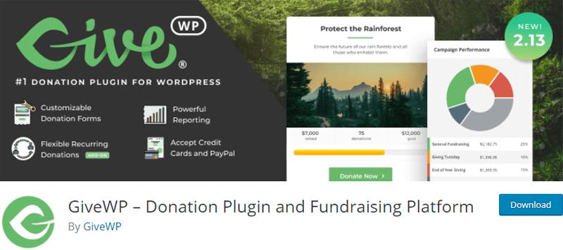 GiveWP- WordPress donation plugin
