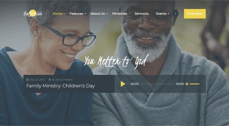 Hallelujah-Theme WordPress theme