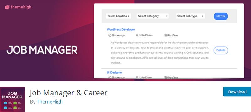 Job-Manager-and-Career-Plugin