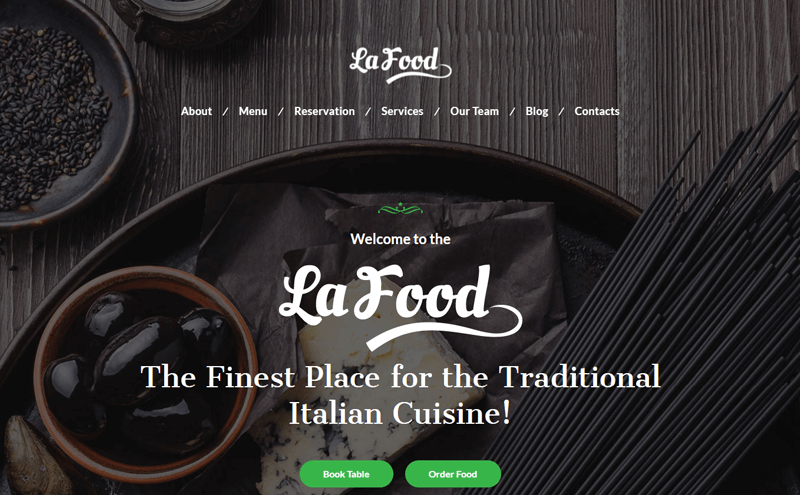 La Food WordPress Theme