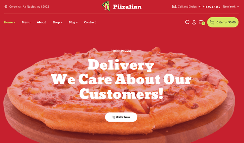Piizalian Restaurant Themes
