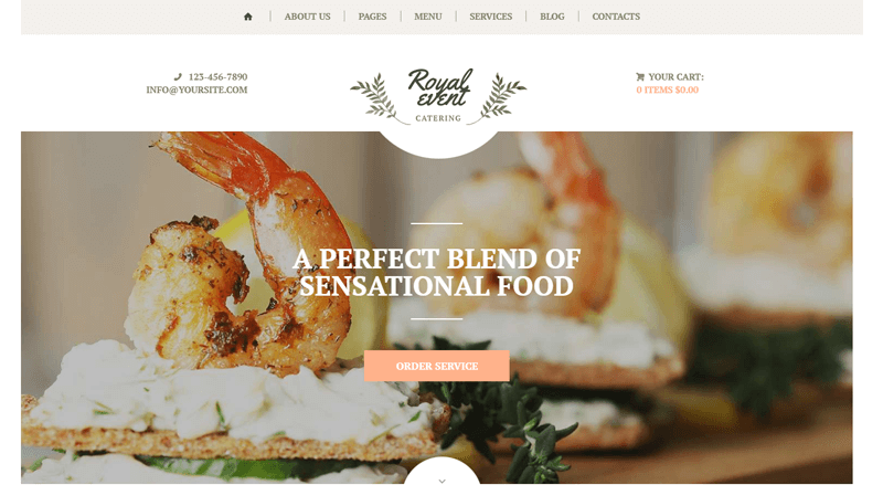 Royal Event Best Catering WordPress Theme