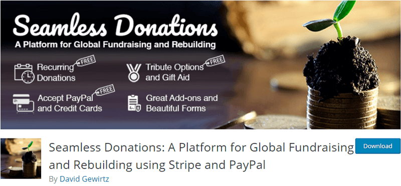 Seamless Donations- charity donation forms