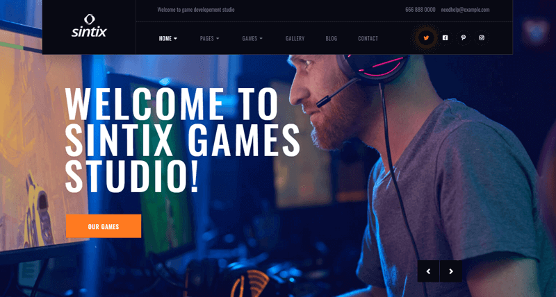 Sintix-Theme WordPress live streaming