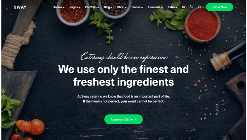 Sway Catering Premium WP Theme