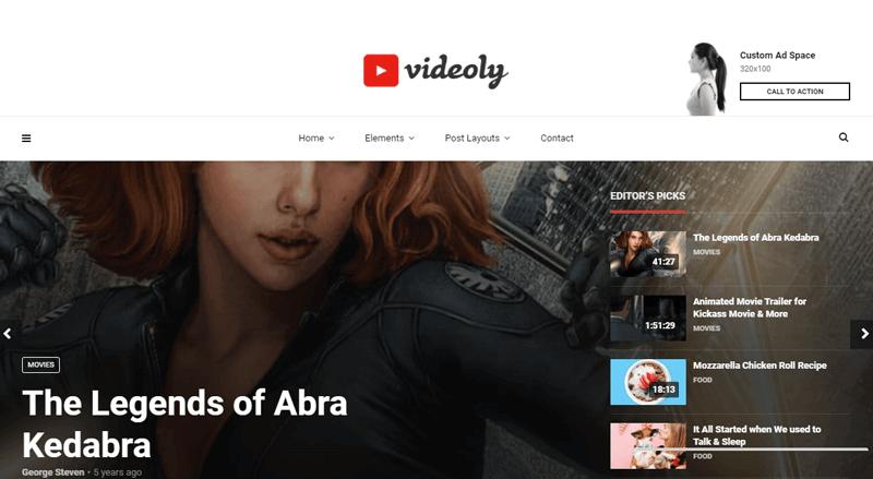 Videoly-Theme live broadcast wordpress plugin