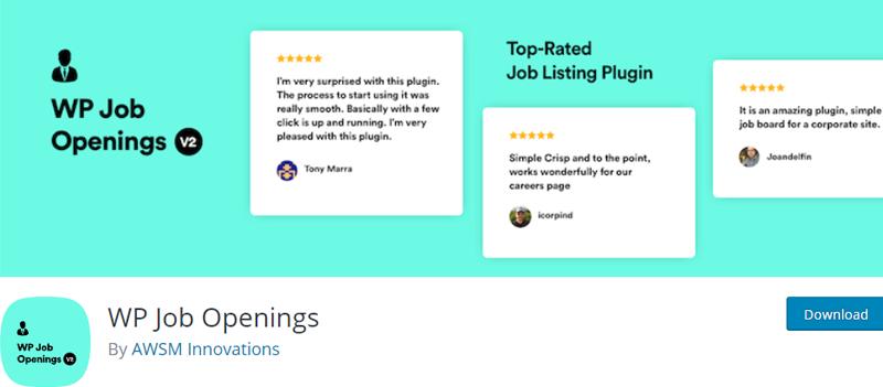 WP-Job-Opening-Plugin add a job application