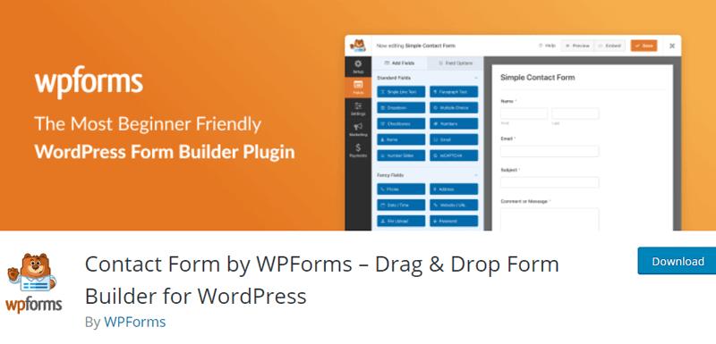 WPForms free job application form plugin for wordpress