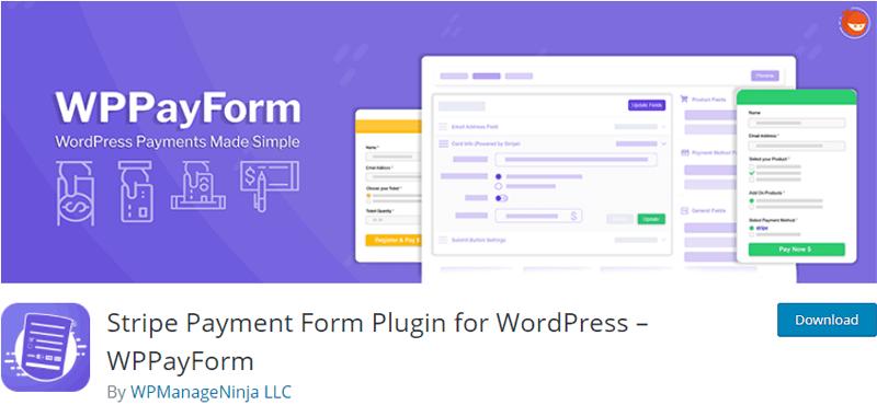 WPPayForm-Stripe Payment Form Plugin for WordPress