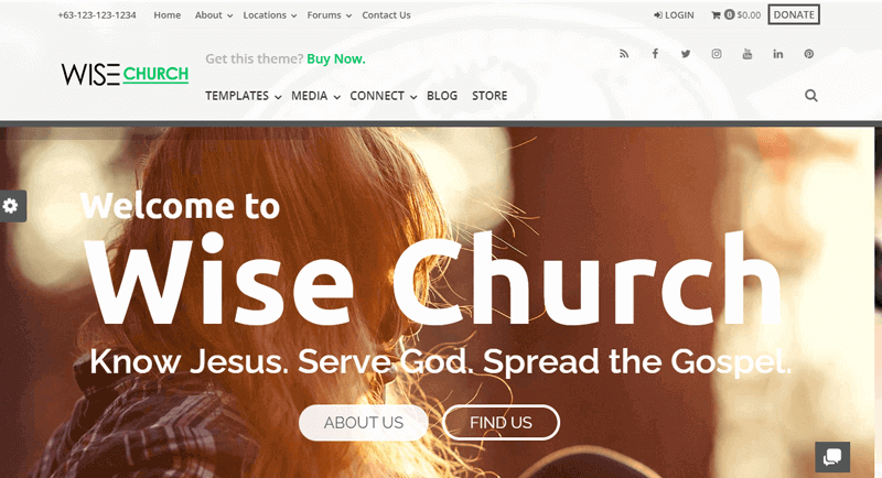 Wise-Church-Theme live streaming video