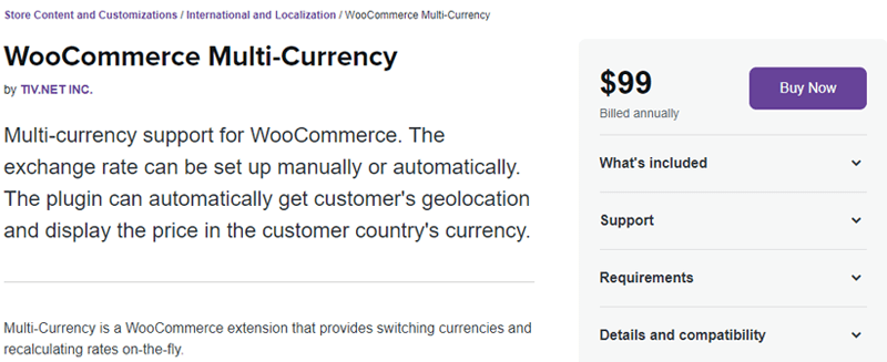 WooCommerce MultiCurrency Extension