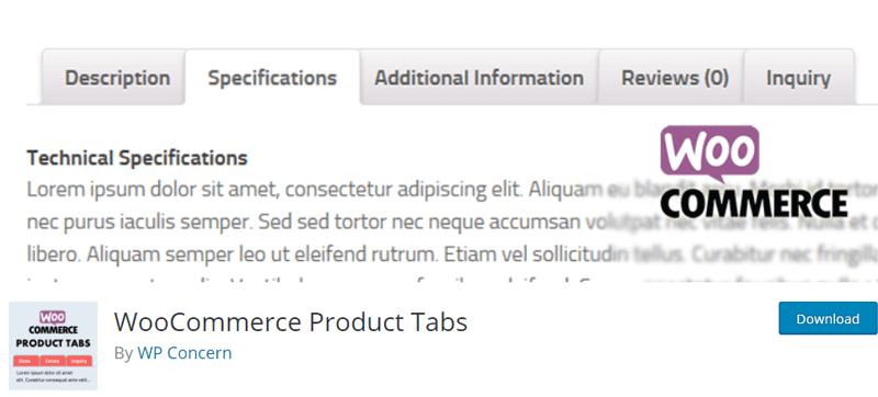WooCommerce Product Tabs Addon